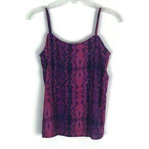 Olivaceous Womens Shirt Size Medium Pink Snake